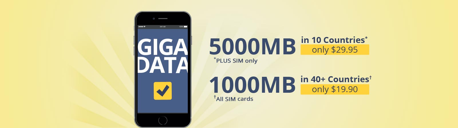 5000MB data package on OneSimCard Plus International SIM Card