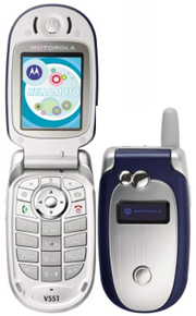 Motorola V547 International Cell Phone Rental - Works Everywhere Except Japan & S. Korea