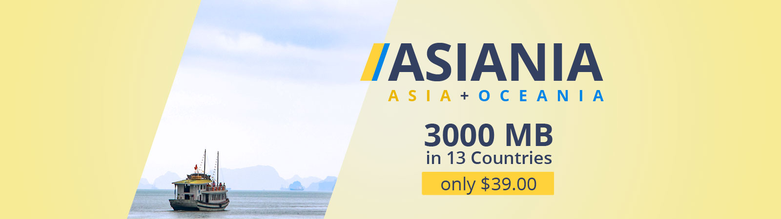 Asiania data plan (Asia + Oceania)